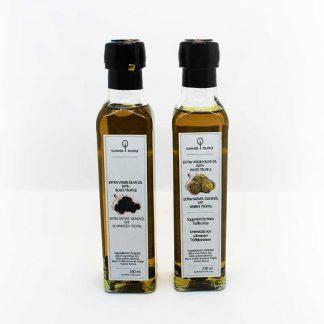 Set von Weiß- und Schwarztrüffel-Öl